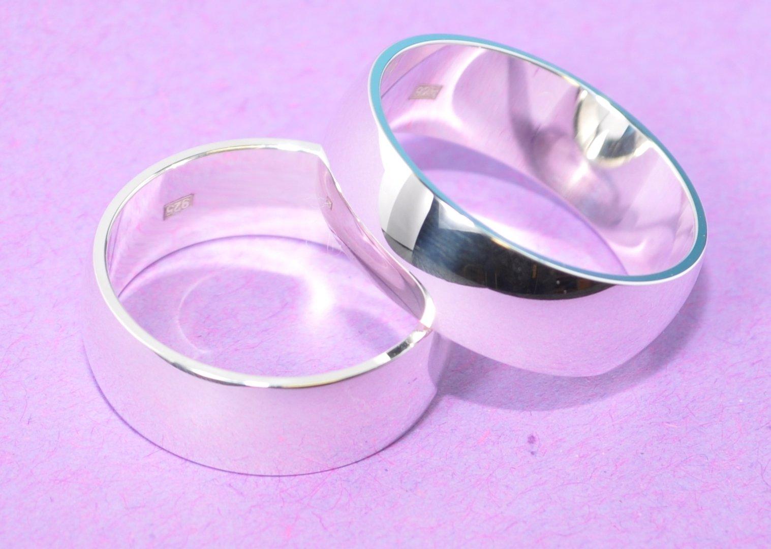 ... Silber Trauringe Eheringe Hochzeitsringe Verlobungsringe - 7 mm Breit