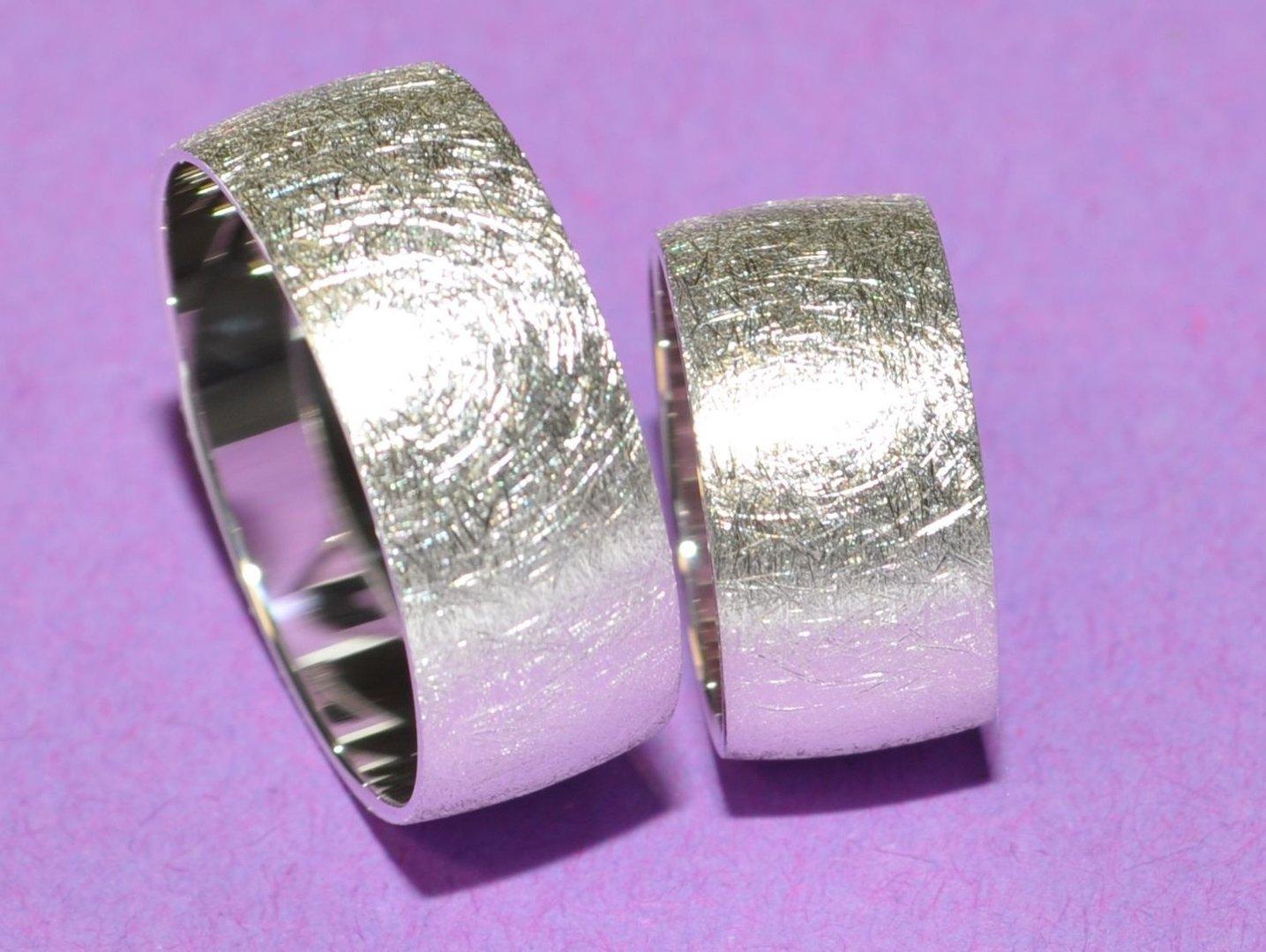 925 Silber Trauringe Eheringe Hochzeitsringe - Paarpreis - Breite 9mm ...