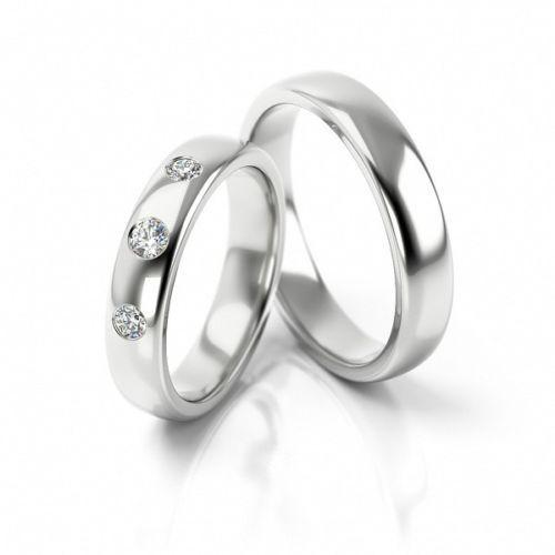 1 Paar Trauringe Eheringe Hochzeitsringe Gold 585 Weissgold