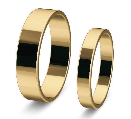 1 Paar Trauringe Hochzeitsringe Gold 750 Breite 3mm Und 5mm