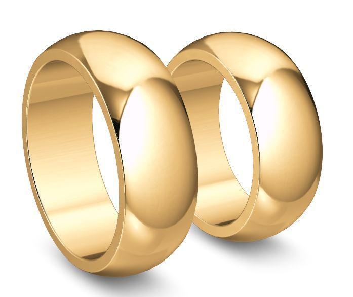 Trauringe Eheringe Hochzeitsringe Gold 750 Poliert Breite 8mm