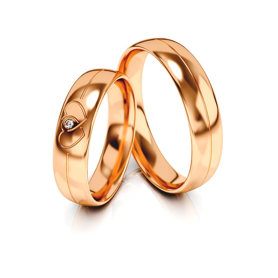 1 Paar Trauringe Hochzeitsringe Gold 585 Mit Doppelherz U Zirkonia