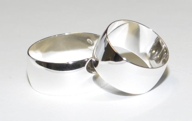 Partnerringe breit  925 Silber - Ehering - Trauring - Partnerring - 9 mm Breit - Alle ...