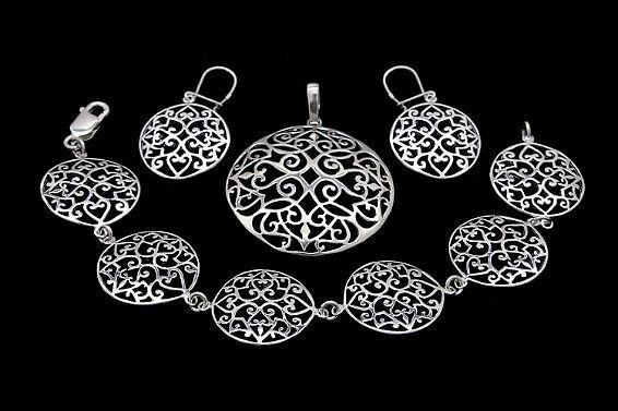 Silberschmuck  Silberschmuck Set - Sterlingsilber 925 - ANADA FACTORY