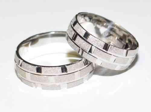 925 Silber - Ehering - Trauring - Partnerring - 6,85mm - Rhodiniert - Top Design