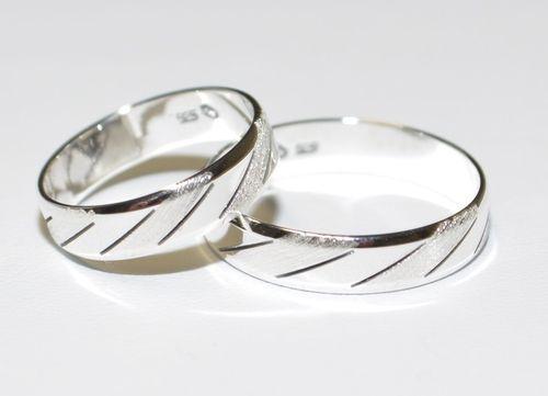 Ehering Höchste Qualität 925 Silber Partnerring Alle Größe !! Trauring