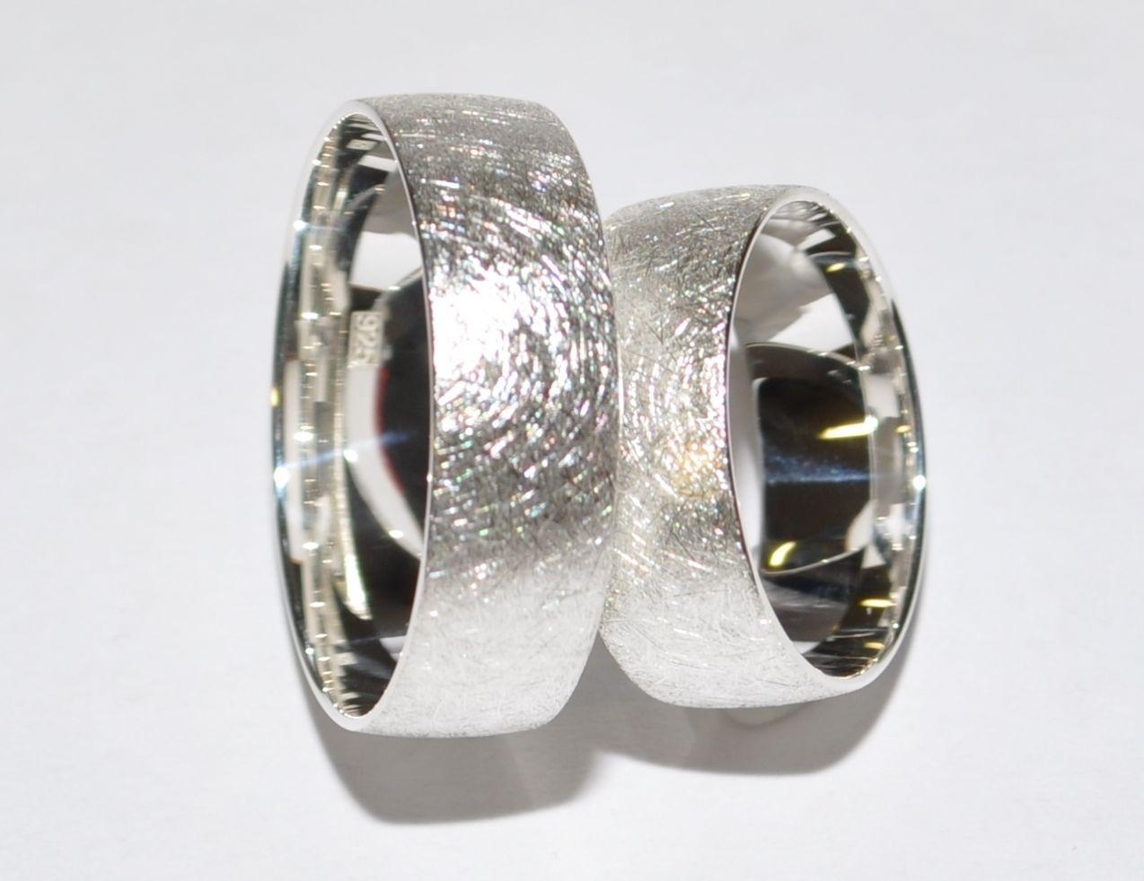 925 Silber Trauringe Eheringe Hochzeitsringe - Paarpreis - Breite 7mm ...