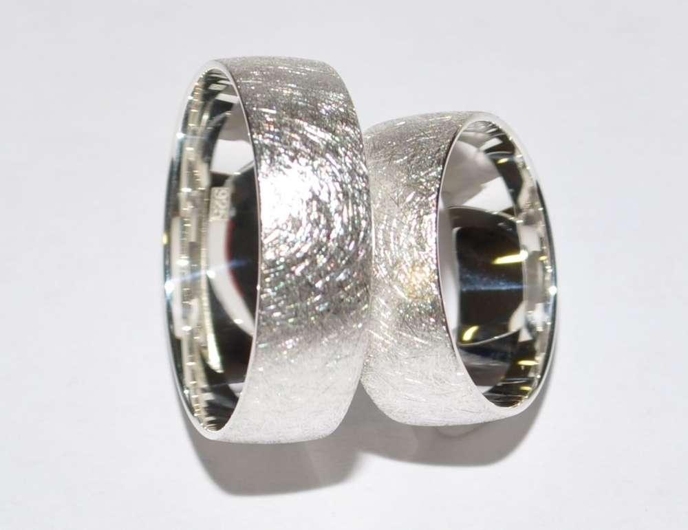 925 Silber Trauringe Eheringe Hochzeitsringe Paarpreis Breite