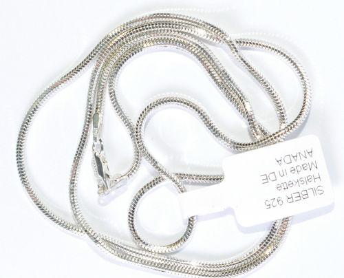 Schlange Collier 925 Silber Halskette Diamantiert Ø 2,2mm Länge 50 cm